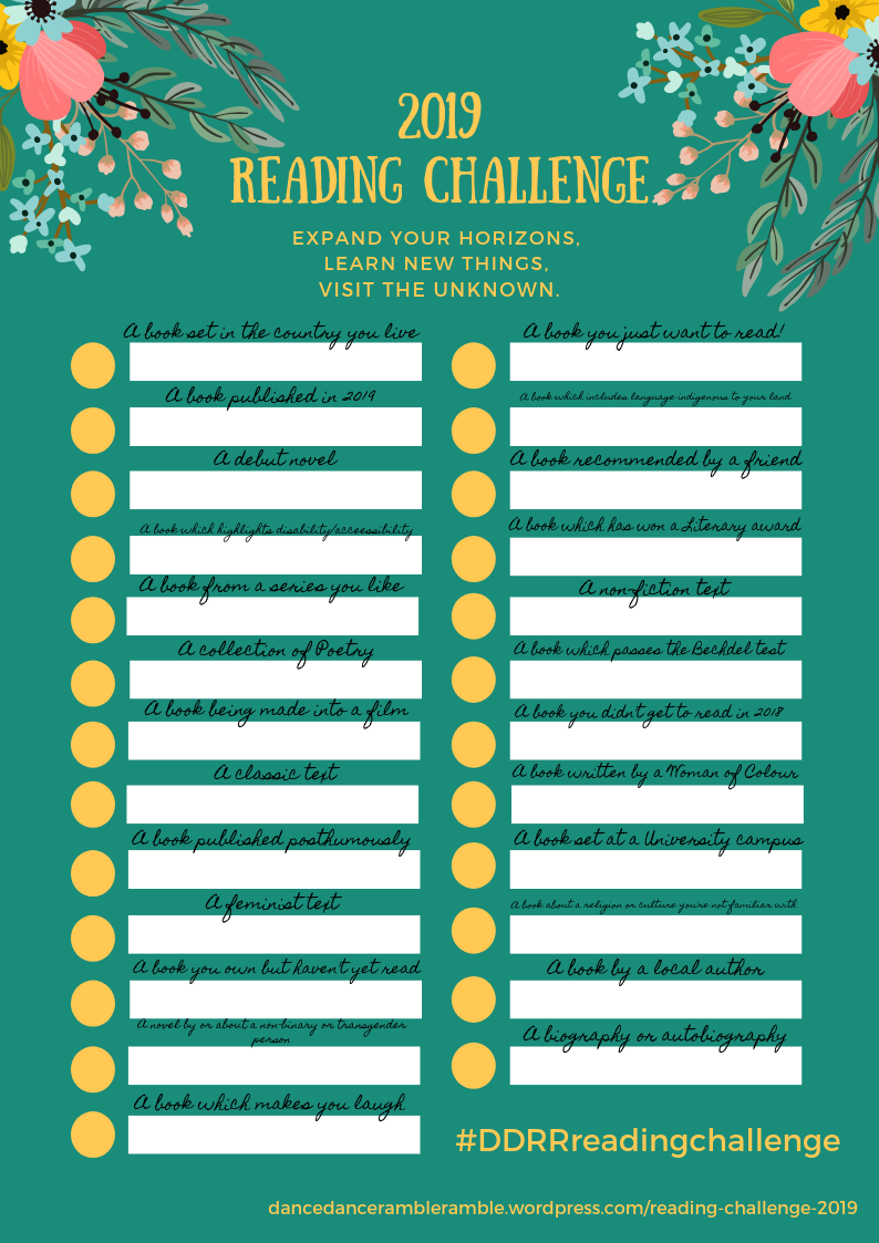 2019 Reading Challenge Checklist